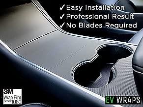 EV Wraps Tesla Model 3 Center Console Wrap - Matrix Black