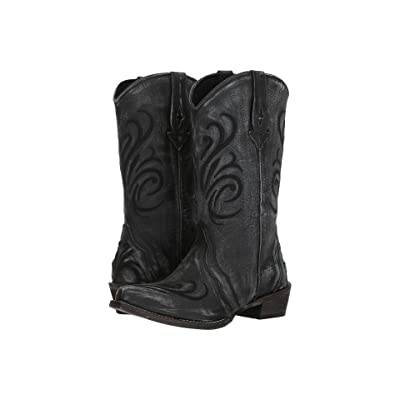 Roper Olivia (Black Sanded Leather Vamp) Cowboy Boots