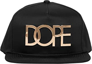 sneakers for cheap 64005 eccaa DOPE 24K Gold Logo Snapback Hat One Size Black