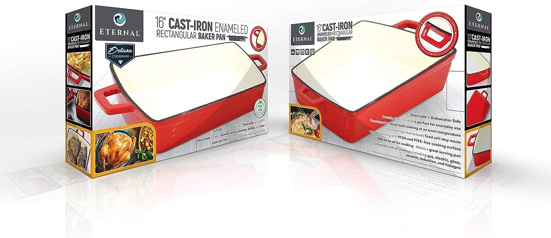 Eternal 70%OFFアウトレット Bakeware Enameled Cast 割り引き Pan Baking Iron PG00181