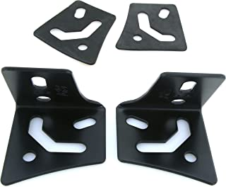 GS Power A Pillar Windshield Hinge Mount Brackets for Offroad LED HID Fog Work Lights. Compatible with 1997-2018 Jeep Wrangler TJ & JK (Also available for 2019 JL & 2020 Gladiator JT)
