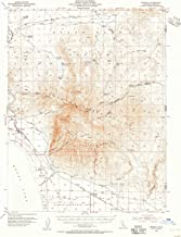 YellowMaps Wendel CA topo map, 1:62500 Scale, 15 X 15 Minute, Historical, 1954, Updated 1955, 20.8 x 16.6 in