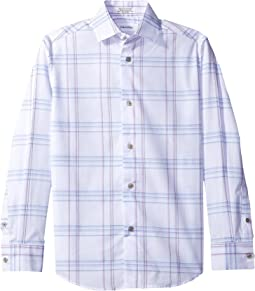 Long Sleeve Echo Windowpane Shirt (Big Kids)