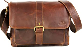 4b86cd0ae8 ALMADIH sac en cuir véritable JORDAN, sac bandoulière Marron Vintage  serviette sac porté épaule Messenger