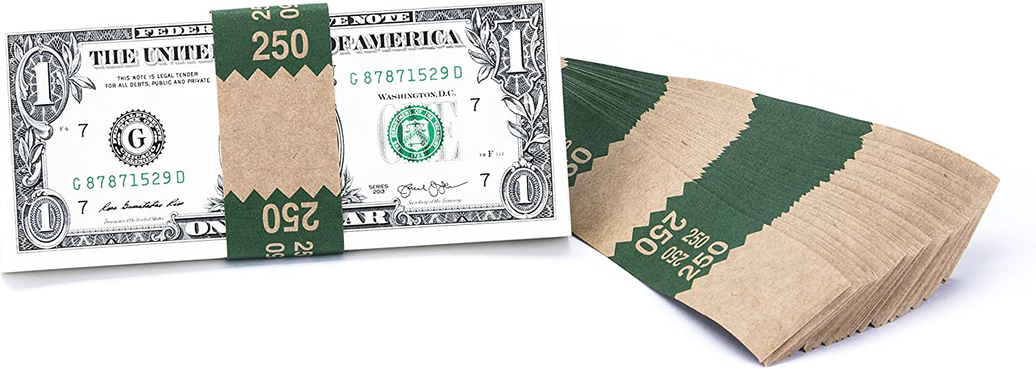 Natural Kraft Saw-Tooth $250 Max 90% OFF Currency Band 1000 40% OFF Cheap Sale Bundles Bands