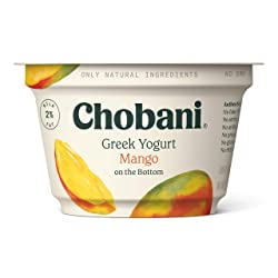 Chobani 2% Greek Yogurt, Mango on the Bottom 5.3oz
