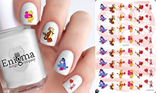 Pooh Valentine's Day (Clear Water-Slide Nail Decals)