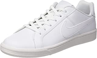 Nike Boy's Court Royale(Gs)/ White Leather Sneakers-3.5 UK (36 EU) (4 Kids US) (833535-102)