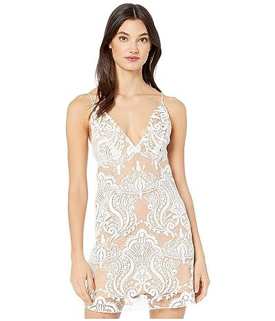 Free People Night Shimmer Mini Dress (Ivory) Women
