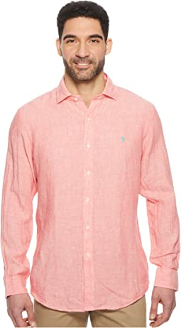 Linen Spread Long Sleeve Sport Shirt