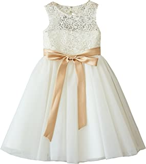 4a5ccef5001 Miama Ivory Lace Tulle Wedding Flower Girl Dress Junior Bridesmaid Dress