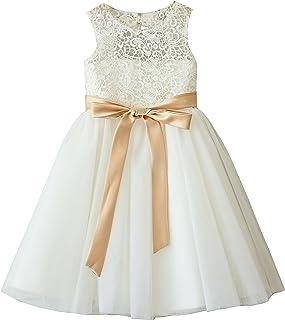 08eef23aca8 Miama Ivory Lace Tulle Wedding Flower Girl Dress Junior Bridesmaid Dress