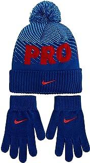 Kids` Nike Swoosh Pom Beanie Hat and Gloves Set