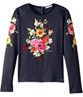 Dolce & Gabbana Kids - Back to School Floral Long Sleeve T-Shirt (Big Kids)