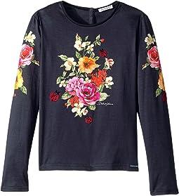 Dolce & Gabbana Kids - Back to School Floral Long Sleeve T-Shirt (Big Kids)