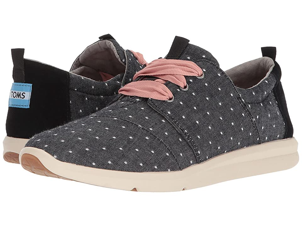 TOMS Del Rey (Black Dot Chambray) Women