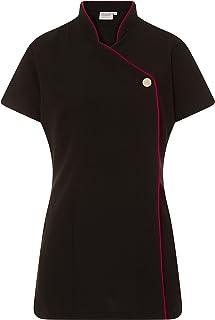 Proluxe Contrast Trim Signature Button Beauty Tuniek - Kappers Massage Therapeut Spa Gezondheid Werk Nail Salon Uniform