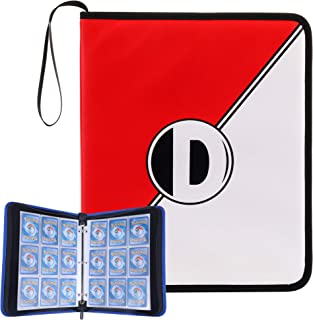 D DACCKIT Carrying Case Compatible with Pokemon Trading Cards, Cards Collectors Album with 30 Premium 9-Pocket Pages, Holds Up to 540 Cards(Red and White Version)
