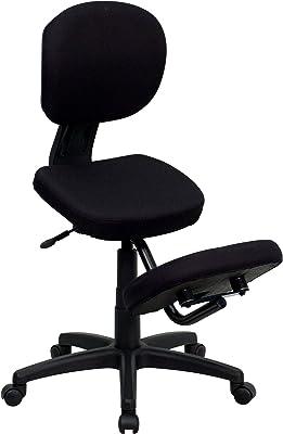 Flash Furniture Black Mobile Kneeler Posture Chairs