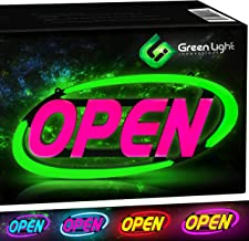 GLI Led Open Sign for Business – Stand Out with 64 Super-Bright Color Combos to Match Your Brand, Programmable App – Neon ...