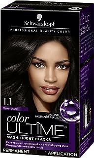 Schwarzkopf Color Ultime Hair Color Cream, 1.1 Raven Black (Packaging May Vary)