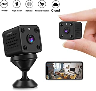 Mini Camera - CUSFLYX Tiny Portable 1080P WiFi Full HD Nanny Pet Office Sports Garage Home Surveillance Camera Auto IR Night Vision 150° Wide Angle Motion Detection Remote Video for Android and iOS