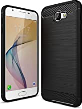 Bracevor Back Cover for Samsung Galaxy J7 Prime / On7 2016 / On Nxt / On7 Prime | Flexible TPU | Brushed Texture - Black