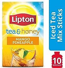 Lipton Tea and Honey Mango Pineapple Iced Tea To Go Packets 10 Bags, 12 Count