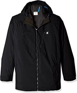 Champion Men's Technical Ripstop with Puffy 3-in-1 Winter Jacket-Big Sizes, Onyx, XX-Large
