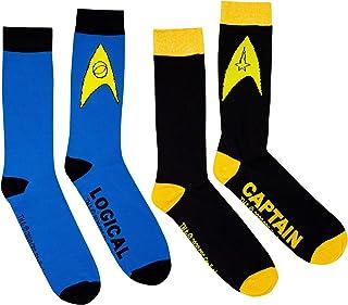 STAR TREK, Logical Captain - Calcetines (2 unidades), color negro, talla única
