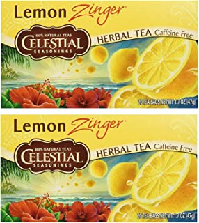 Celestial Seasonings upc Herbal Tea, Lemon Zinger, (2 Pack)