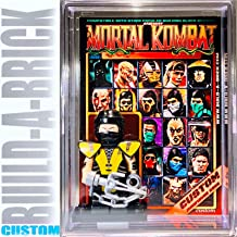 BuildABrick Custom Mortal Combat Game Scorpion Minifigure w/ Display Case UV Collectible Card for Retro Video Game minifig Collectors