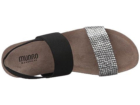 Fabric Combo Munro Black SuedeWhite Black MetallicPlatinum Patent Black Lizard FabricBlue Kid Silver PrintSandalino Pisces wx7qTHwU