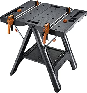 WORX Pegasus Multi-Function Work Table and Sawhorse with Quick Clamps and Holding Pegs WX051 (Renewed)