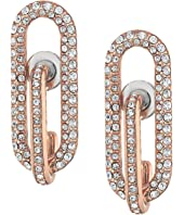 Michael Kors Iconic Pave Link Earrings