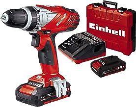 Einhell 4513690 TALADRO SIN CABLE LITIO TE-CD 18 Li, W, 18 V, Negro, Rojo, con 1,5 Ah de la batería y el cargador