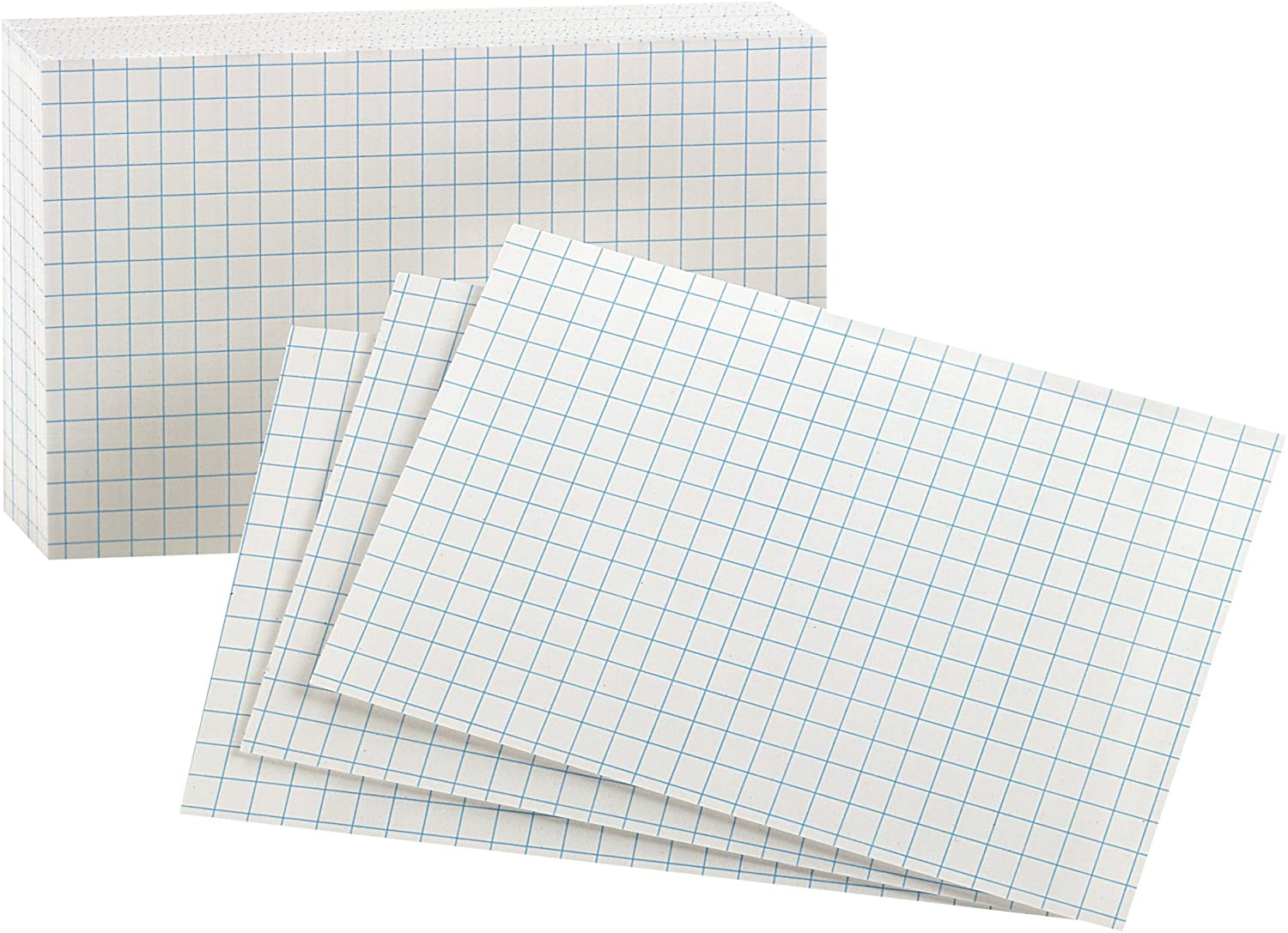 3 x 5 Inches New Edition-White 100 per pack 02035EE Oxford Grid Design Index Cards White