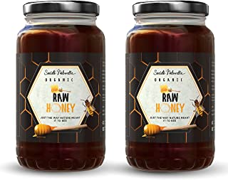 Societe Naturelle - Super Saver Pack of Raw Organic Honey - 1 Kg - Pack of 2 / Certified Honey / No Preservatives / 100% N...