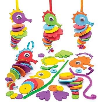 Id/éal Pour Les Enfants Lot De 10 Baker Ross AX251 Kits DImages De Monstre /À Gratter Les Jouets /Éducatifs Et Les Cadeaux Pour Enfants. Les Arts Et LArtisanat