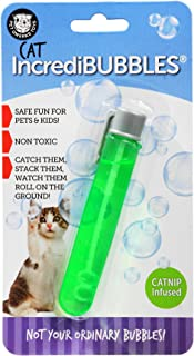 IncrediBubbles - Cat Nip Infused Flavor - Cat Toy by PetQwerks Flavored Bubbles & Blower
