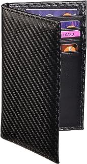 Slim Thin ID/Credit Card Holder RFID Genuine Leather Bifold Front Pocket Wallet