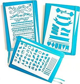 Bullet diario Stencil Kit–Banners, separadores, & iconos | se adapta LEUCHTTURM & Moleskine A5portátiles | mejor utilizar con rotuladores de punta fina huhuhero y Sakura micras bolígrafos