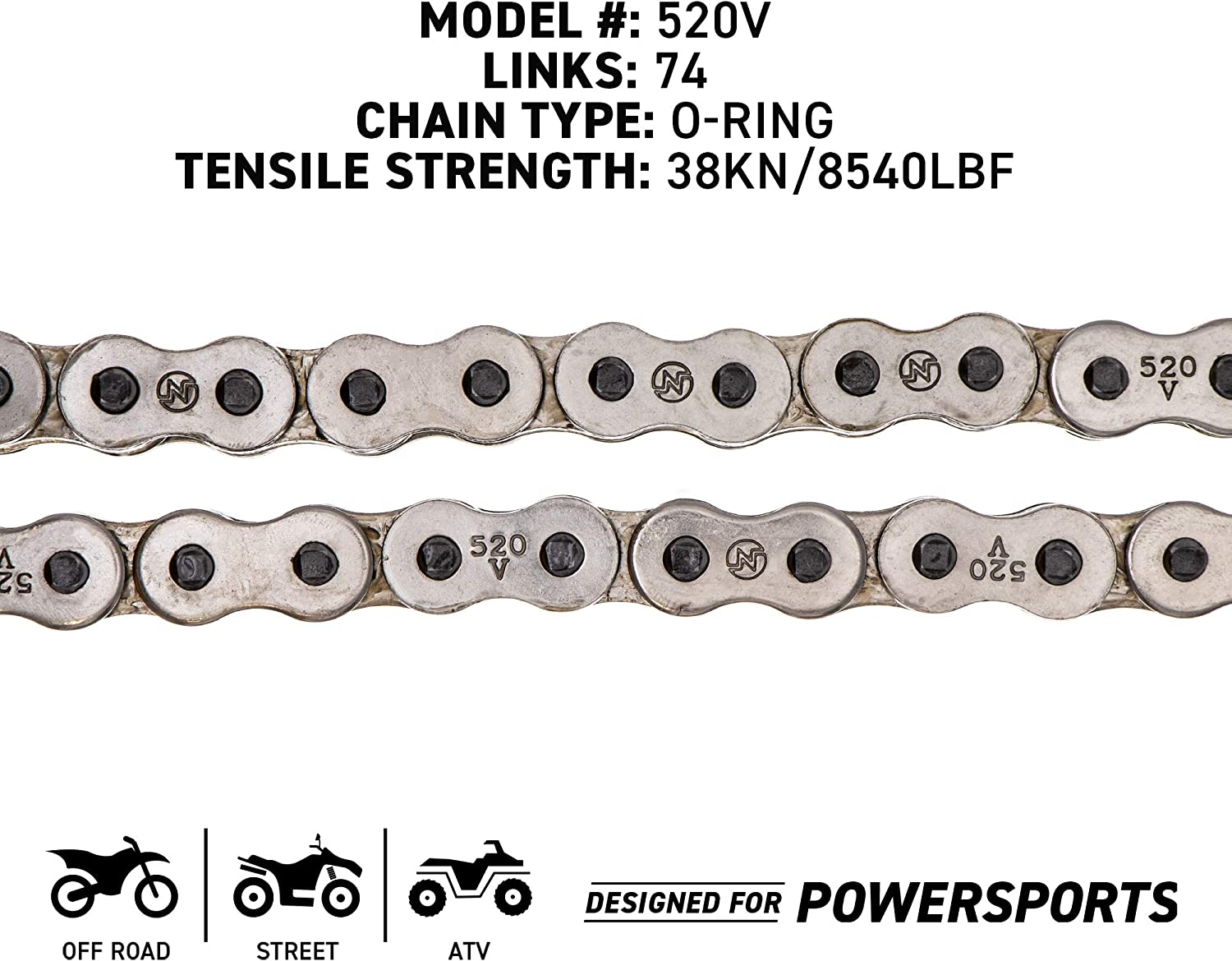 NICHE Drive Sprocket Chain Combo for Polaris Trail Boss 250 4x4 Front 12 Rear 42 Tooth 520V O-Ring 74 Links