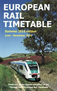 European Rail Timetable: Summer, 2016: June - December 2016