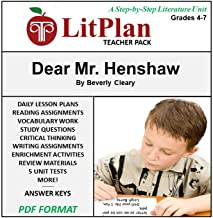 Homeschool and Online Learning Novel Study Guide for Dear Mr. Henshaw