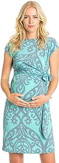 My Bump - Vestido de Maternidad, diseño de Lazo, Manga, Mint/Grey DM, L