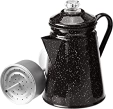 GSI Outdoors 8 Cup Enamelware Percolator Coffee Pot for Brewing Coffee over Stove and Fire | Ideal for Campsite, Cabin, RV...