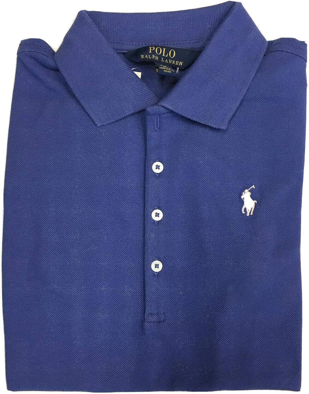 Ralph Lauren Polo Girls Shirt Kids Short Sleeve Mesh Top Size 2/2T Blue