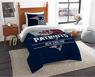 Northwest New England Patriots Twin Comforter Set, Blue, 64