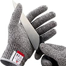 NoCry Cut Resistant Gloves - Ambidextrous, Food Grade, High Performance Level 5 Protection. Size Medium, Complimentary Ebo...